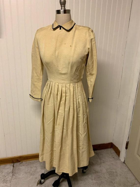 1930's Textured Silk Dress