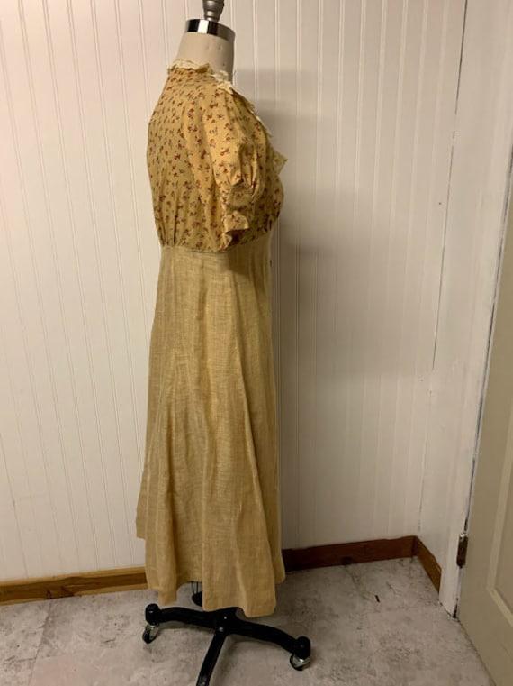 1940's Cotton Day Dress - image 4