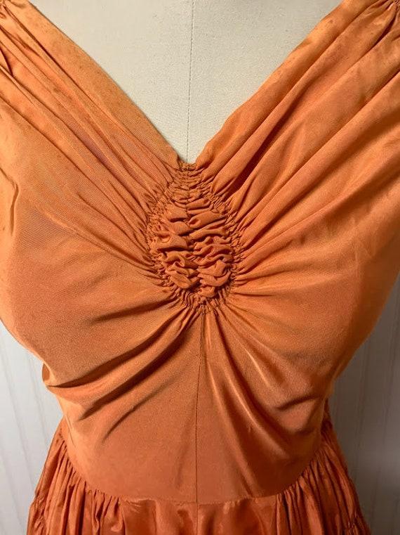 1940's Orange Gown - image 2
