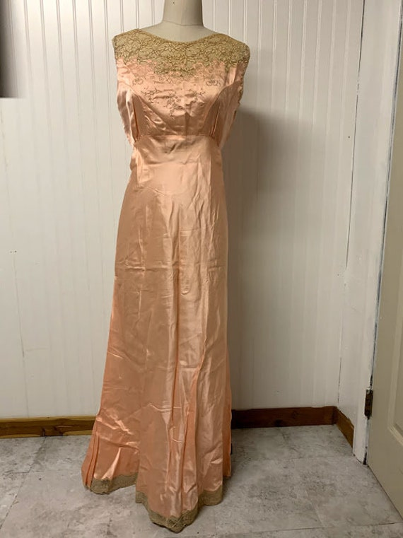 1930's Silk Nightgown - image 1