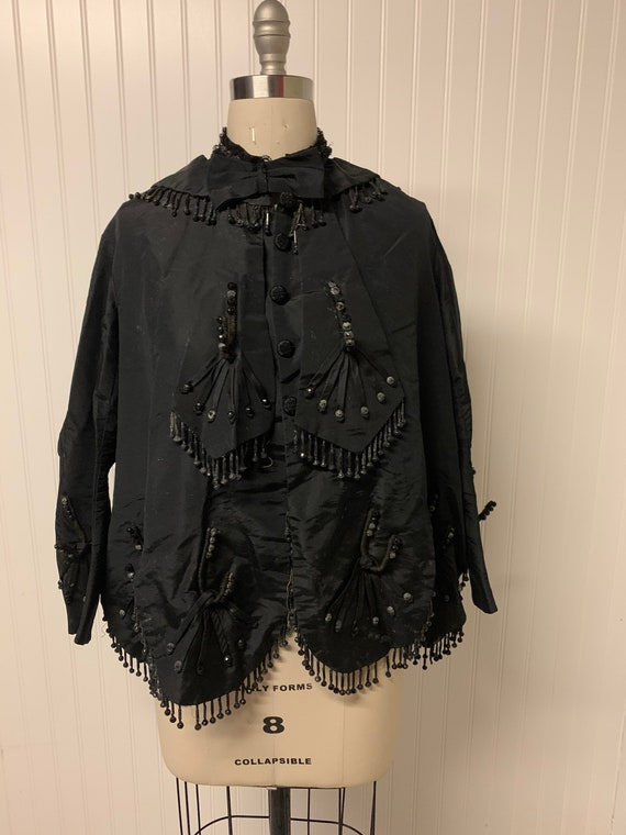 Vintage Victorian Beaded Cape Jacket