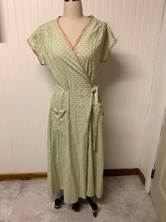 1930's Cotton Wrap Dress