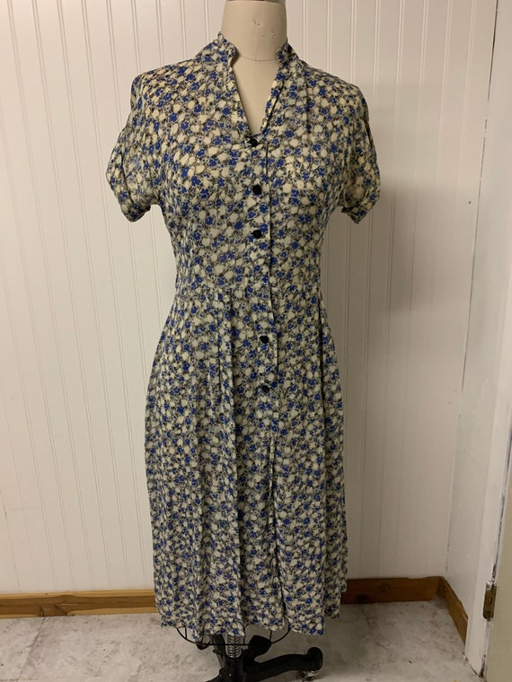 Vintage 1950's Nylon Printed Dress
