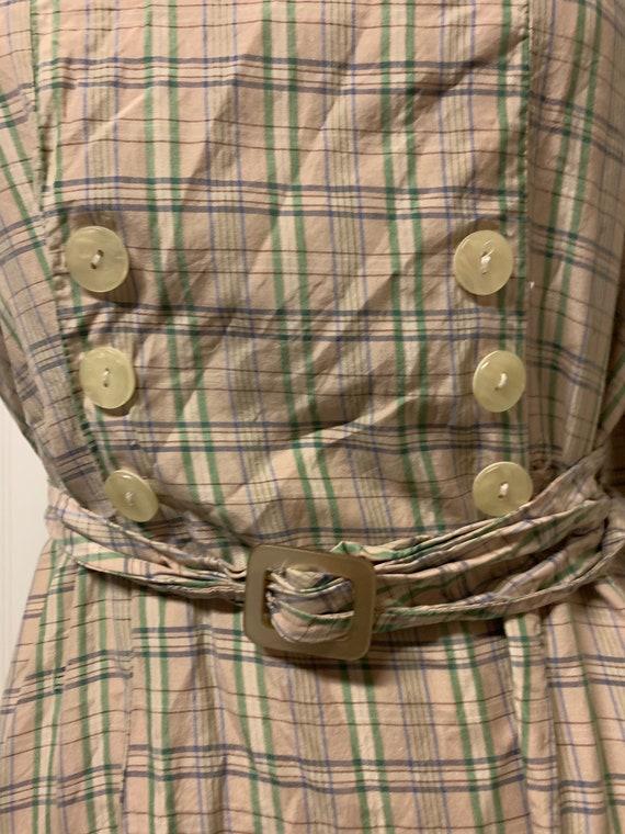 1940's Plaid Dress - image 3