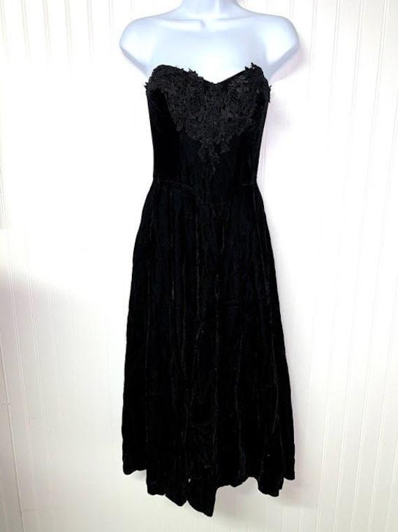 Black Velvet Gunne Sax Dress