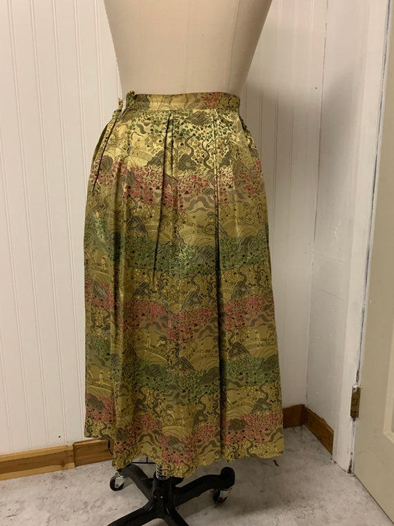 1950's Nelly de Grab Gold Brocade Skirt - image 5