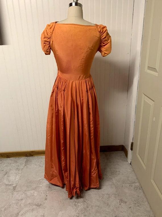 1940's Orange Gown - image 6