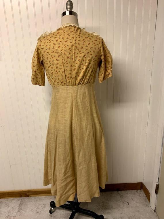 1940's Cotton Day Dress - image 5