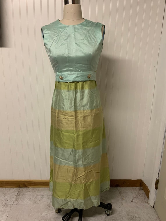 1960's Silk Colorblock Dress