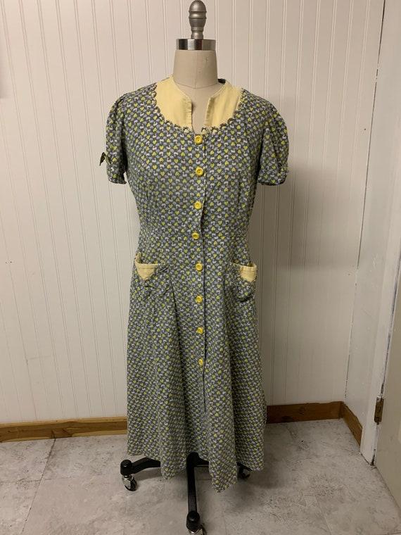 Vintage Strawberry Print Dress