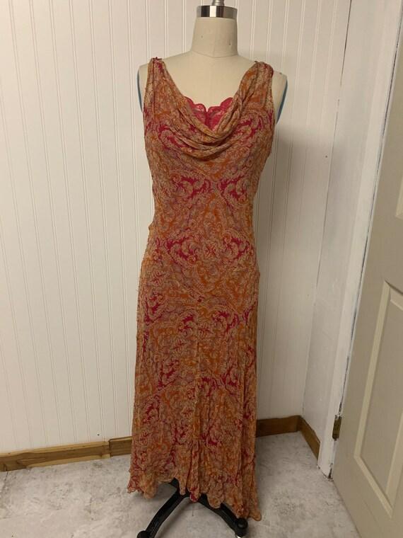 1970s Chiffon Beaded Dress - image 1