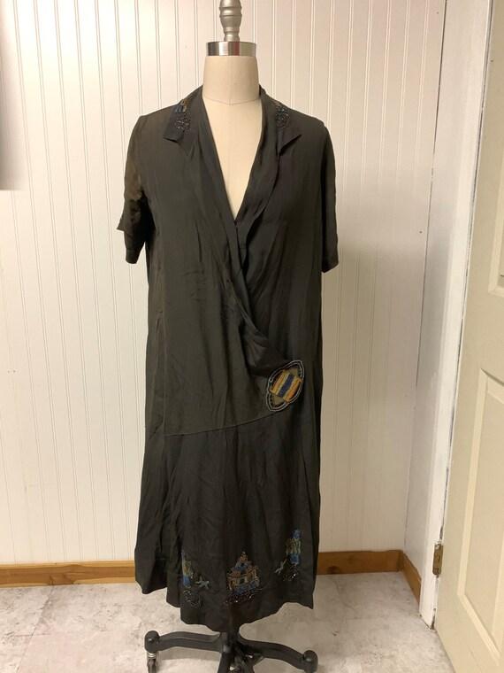 1920's Beaded Wrap Dress