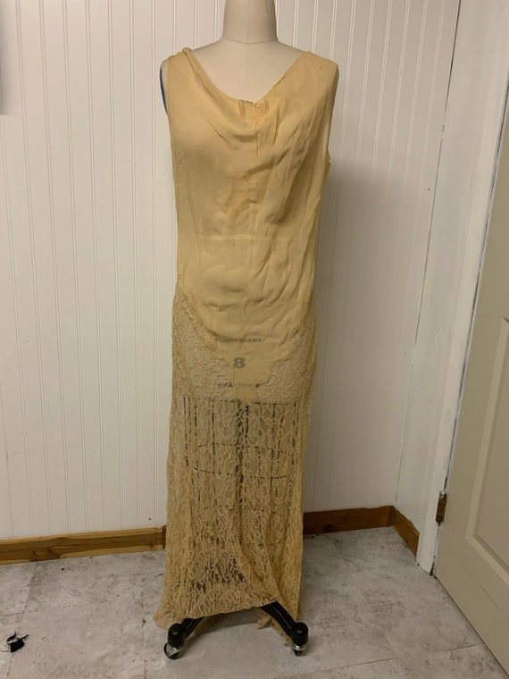1930's Sheer Lace Dress