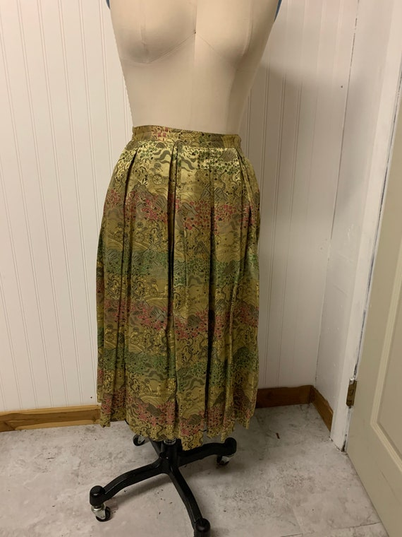 1950's Nelly de Grab Gold Brocade Skirt