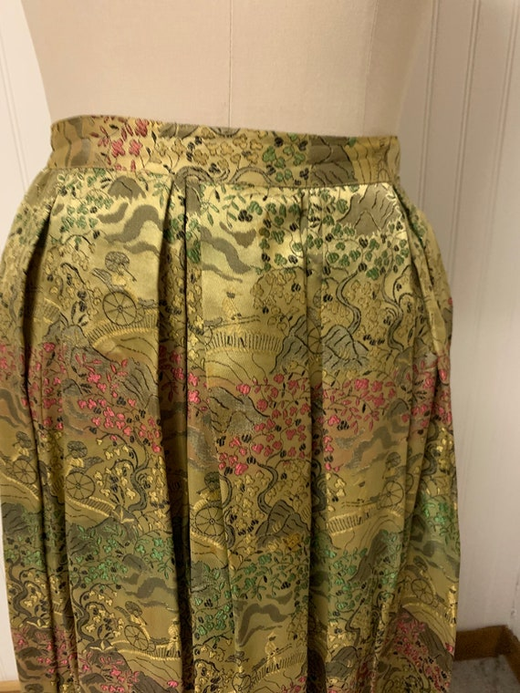 1950's Nelly de Grab Gold Brocade Skirt - image 2