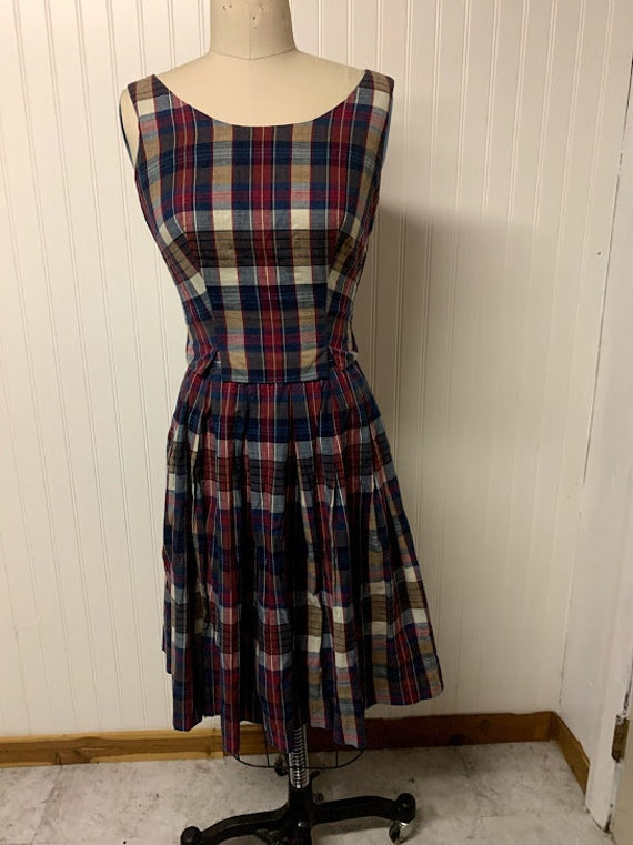 Vintage 1940's Plaid Skirt Set