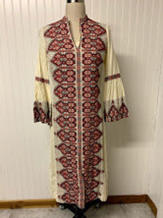 1970's Greek Embroidered Kaftan