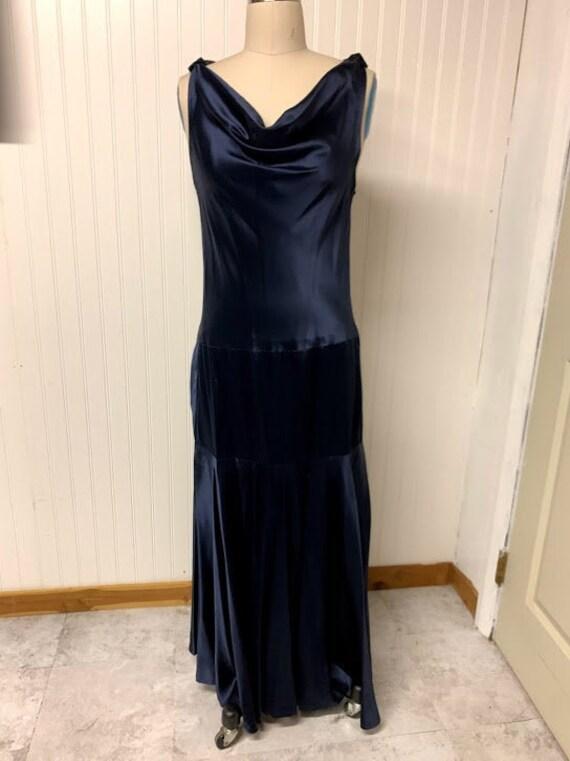 1930's Satin Bias Gown