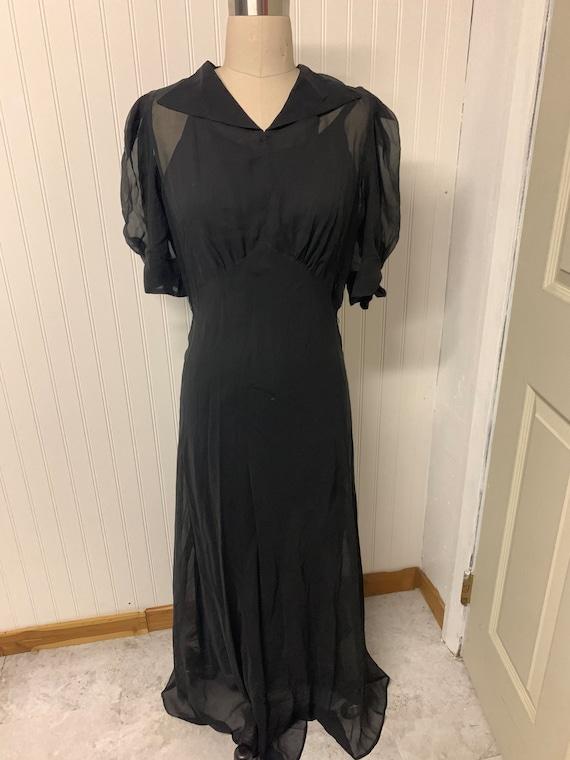 1930's Chiffon Dress