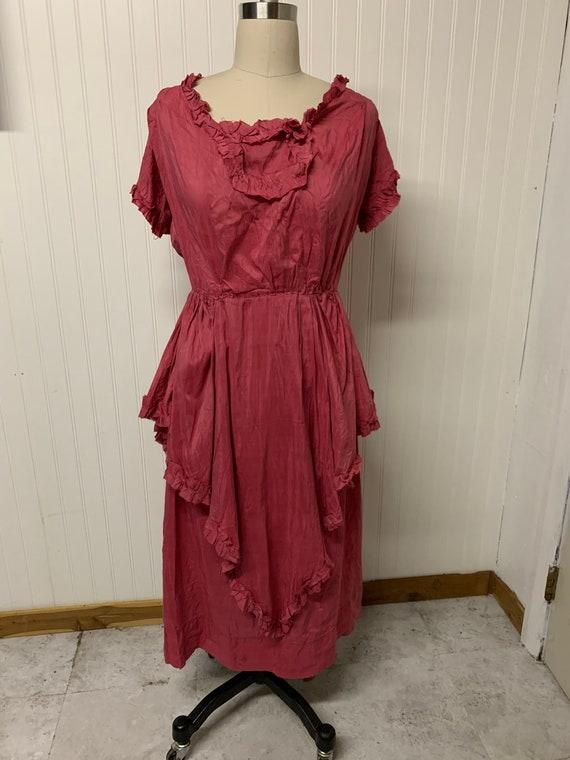 Edwardian Pink Cotton Dress