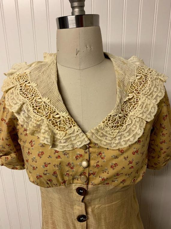 1940's Cotton Day Dress - image 2