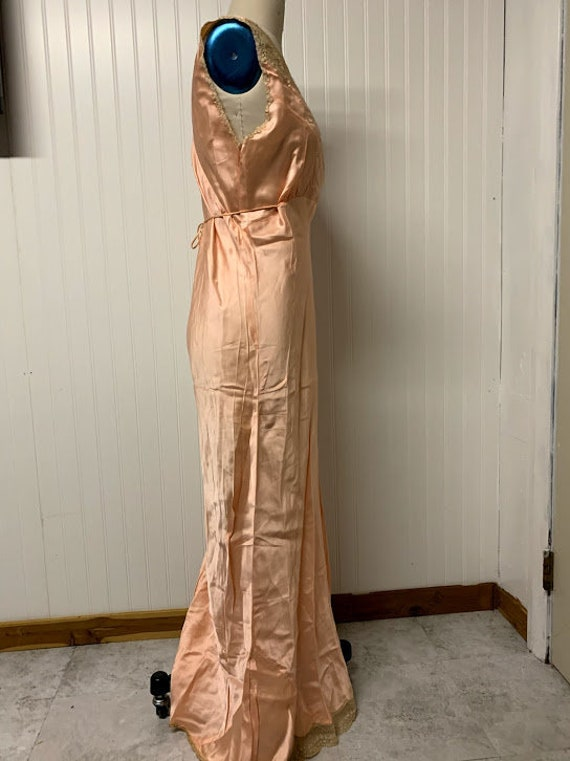 1930's Silk Nightgown - image 5