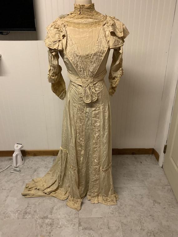 Vintage Silk Victorian Dress