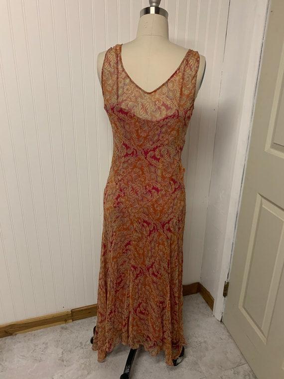 1970s Chiffon Beaded Dress - image 5