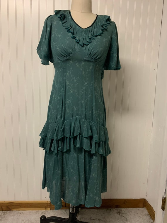 1930's Rayon Crepe Dress