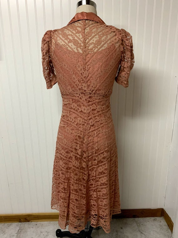 1940's Pink Lace Dress - image 6