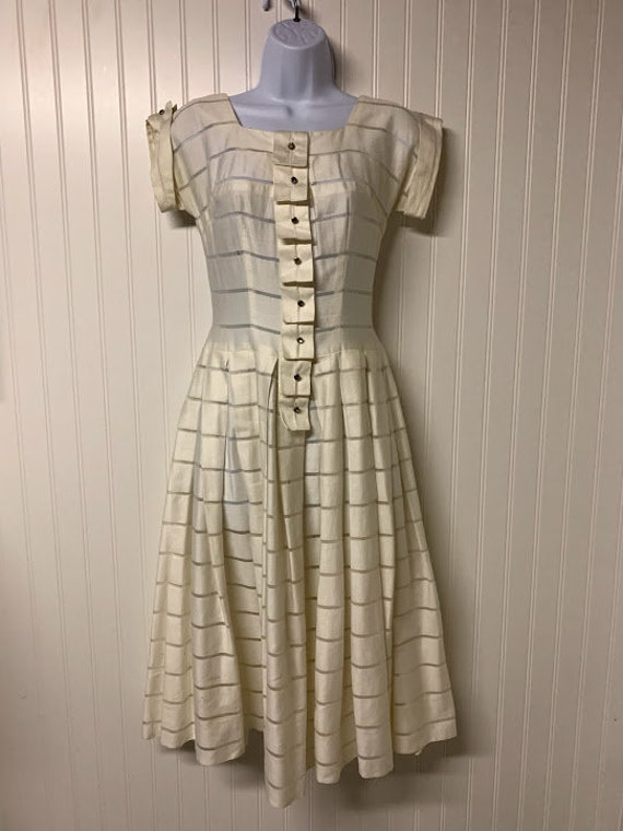 1940's White Cotton Dress