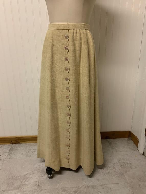 1930's Heavy Linen Skirt - image 1