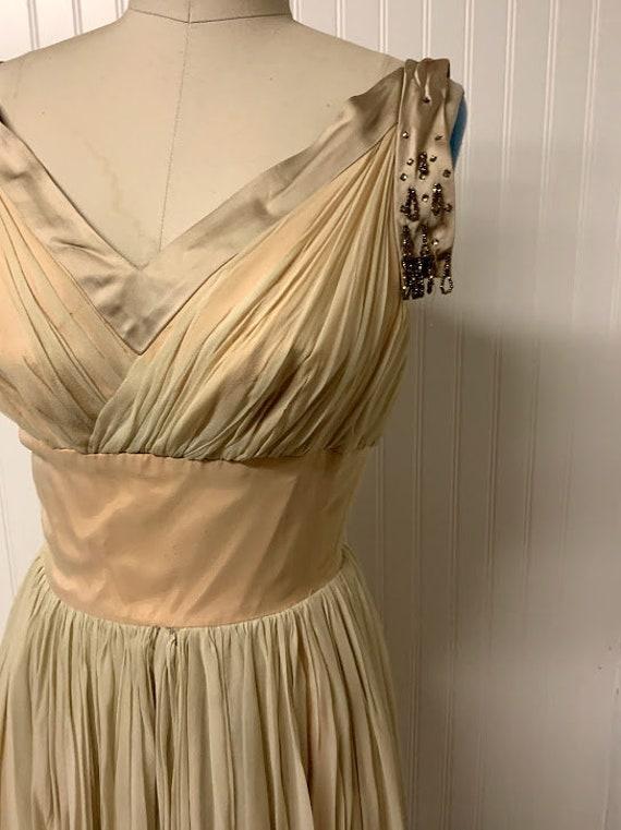 1950's Chiffon Dress - image 2