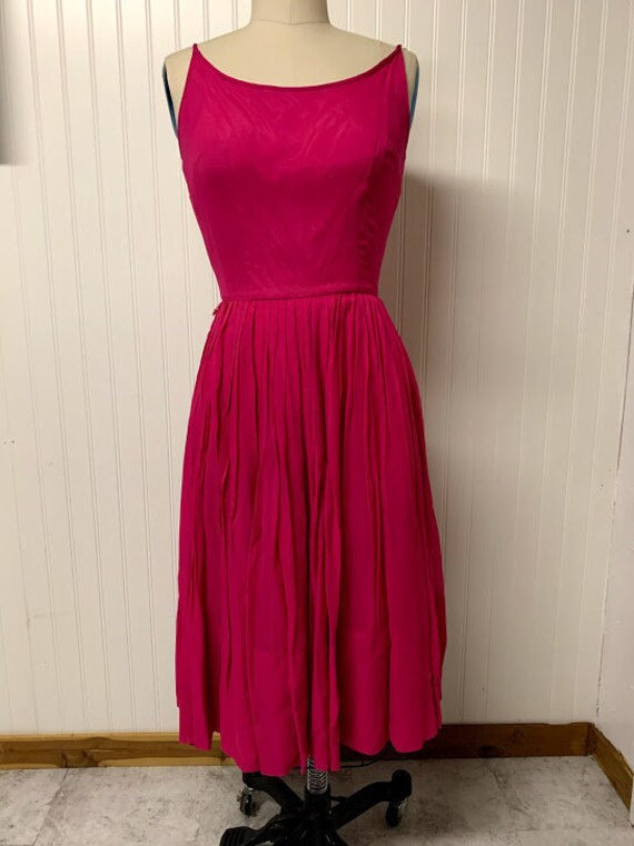1950's L'Aiglon Hot Pink Dress