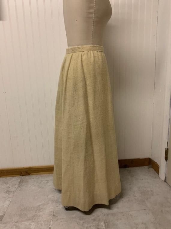 1930's Heavy Linen Skirt - image 4