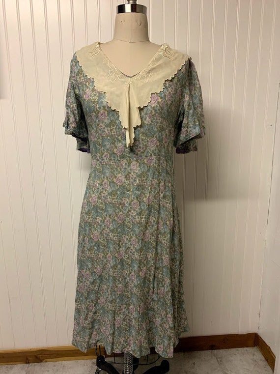 1930's Cotton Day Dress