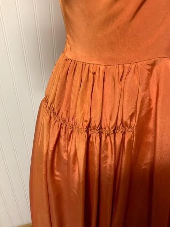 1940's Orange Gown - image 4
