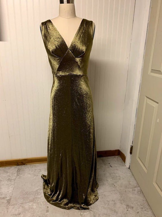 Vintage 1930's Gold Lame Dress