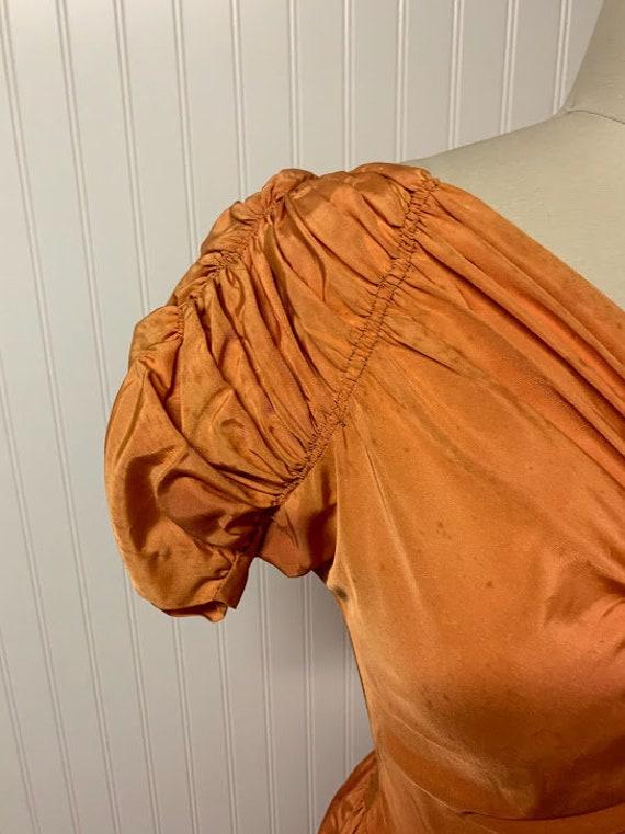 1940's Orange Gown - image 9