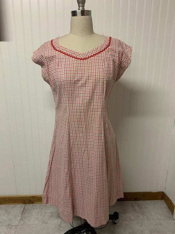 1940's Plaid Dress - image 1