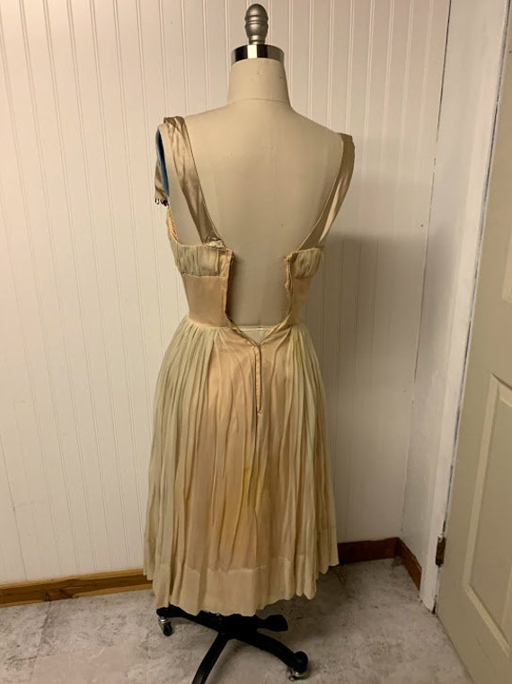 1950's Chiffon Dress - image 6