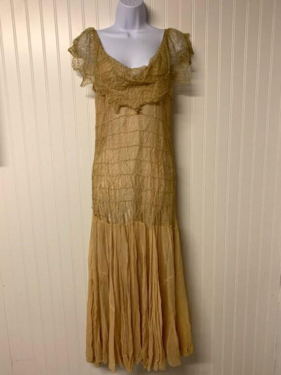 1930's Lace and Chiffon Dress