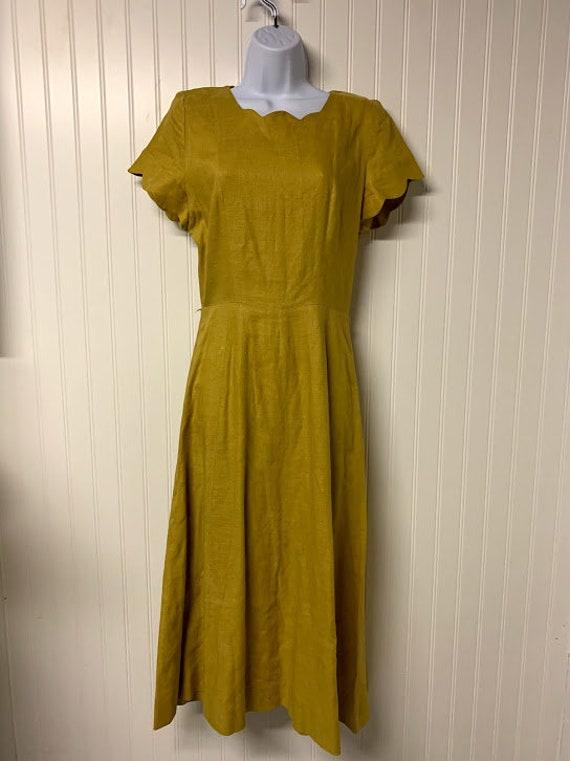 1940's Linen Dorothy R. Bullitt Inc. Dress