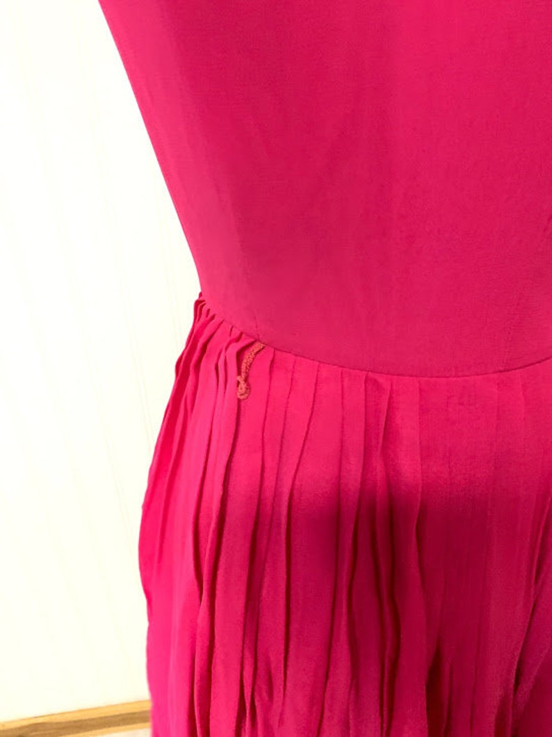 1950/'s L/'Aiglon Hot Pink Dress
