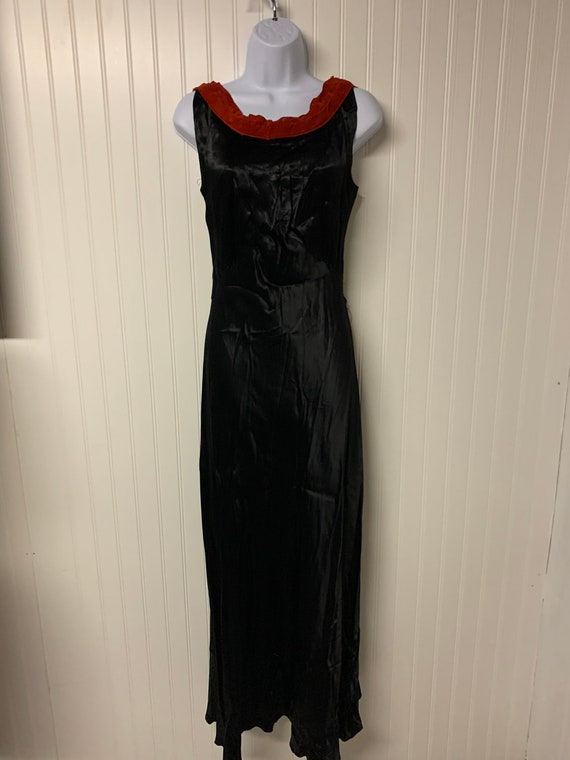 1930's Satin and Velvet Dress