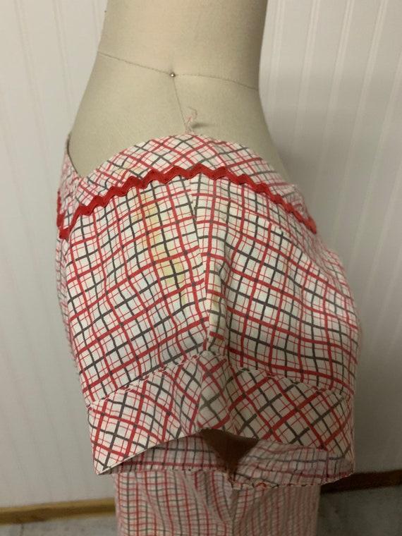 1940's Plaid Dress - image 6