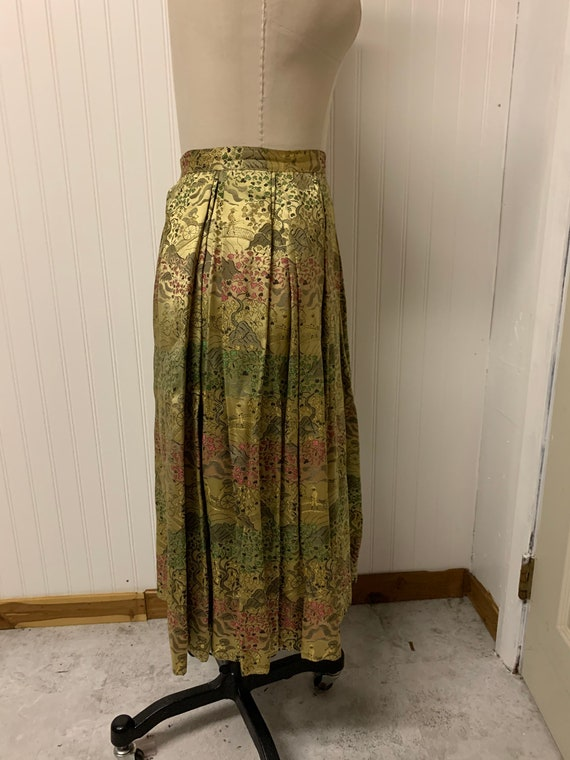 1950's Nelly de Grab Gold Brocade Skirt - image 4