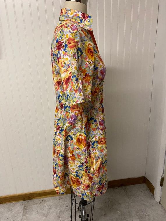 1960's Floral Mod Dress - image 4
