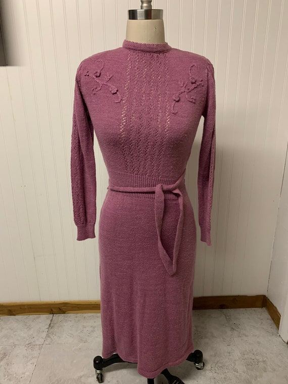1960's Knitted Sweater Dress