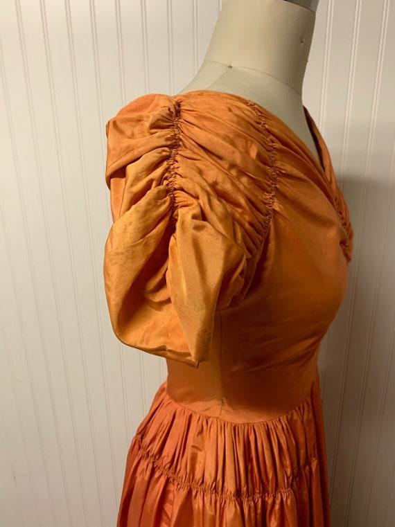 1940's Orange Gown - image 3